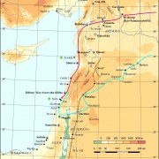 Karte zu den Westfeldzügen Assurbanipals