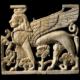 Elfenbein aus Fort Shalmaneser, Nimrud (Irak); British Museum, Inv. no. 134322.
