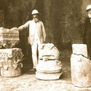 C. Schick (rechts) und L. Schönecke (links) in Jerusalem